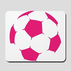 Pink Soccer Ball Mousepad