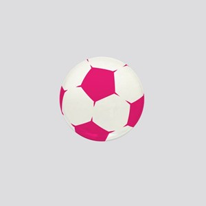 Pink Soccer Ball Mini Button