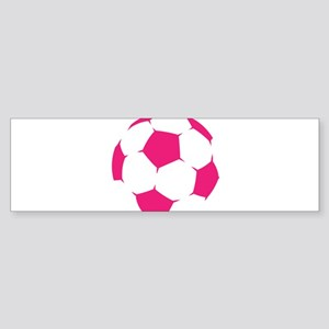 Pink Soccer Ball Bumper Sticker