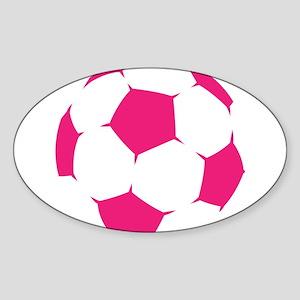 Pink Soccer Ball Sticker