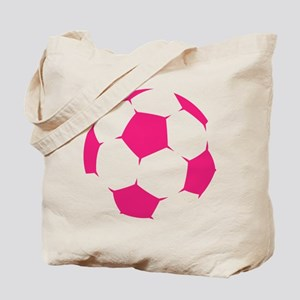 Pink Soccer Ball Tote Bag