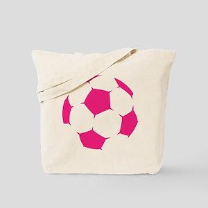 Pink Soccer Ball Tote Bag