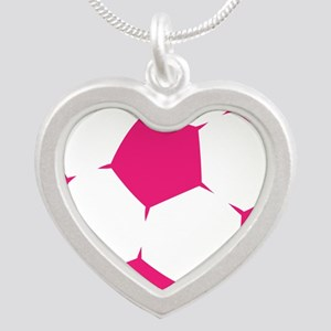 Pink Soccer Ball Necklaces
