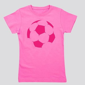 Pink Soccer Ball Girl's Tee