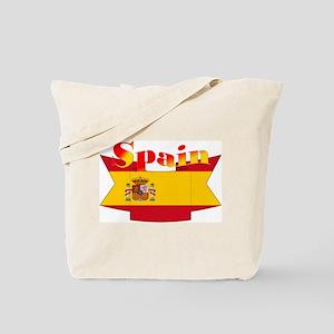 Flag Of Spain Ribbon Tote Bag