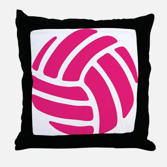 Pink Volley Ball Throw Pillow