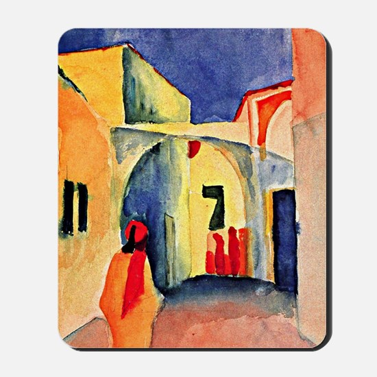 August Macke painting, A Glance Down an  Mousepad