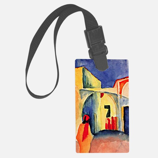 August Macke painting, A Glance  Luggage Tag