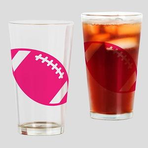 Pink Football Drinking Glass