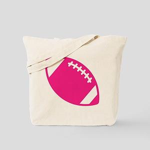 Pink Football Tote Bag