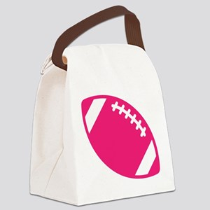 Pink Football Canvas Lunch Bag