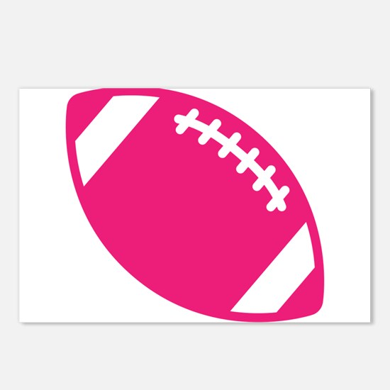 Pink Football Postcards (Package of 8)