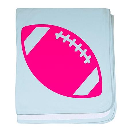 Pink Football baby blanket