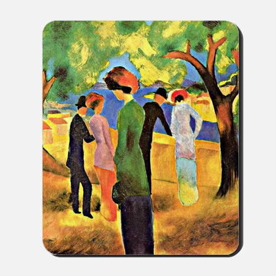 August Macke painting, Woman in a Green  Mousepad