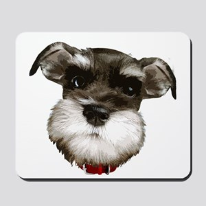 mini_schnauzer_face001 Mousepad