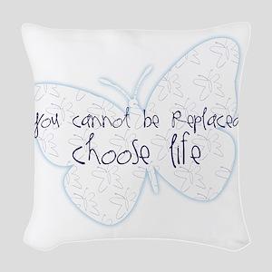 Suicide Awareness Choose Life! Woven Throw Pillow