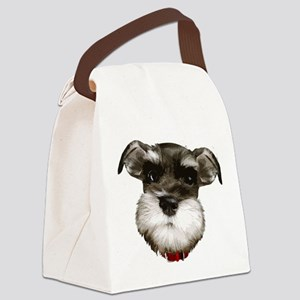 mini_schnauzer_face001 Canvas Lunch Bag