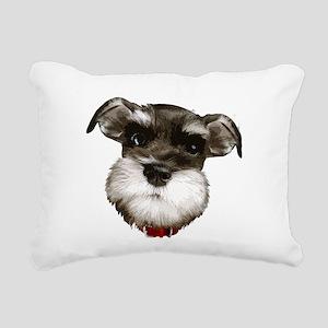 mini_schnauzer_face001 Rectangular Canvas Pillow