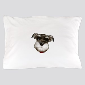mini_schnauzer_face001 Pillow Case