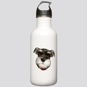 mini_schnauzer_face001 Water Bottle