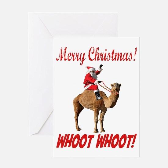 Merry Christmas Santa On Hump Day Camel Greeting C