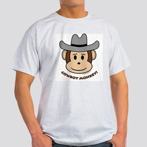 Cowboy Monkey Ash Grey T-Shirt