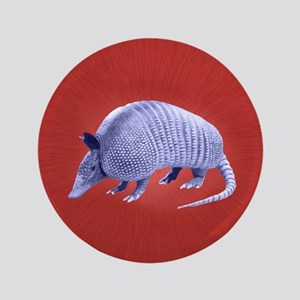 "Purple Armadillo on Red 3.5"" Button"
