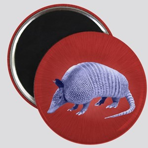 Purple Armadillo on Red Magnets