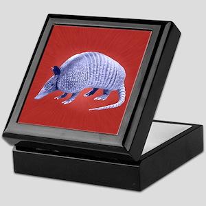 Purple Armadillo on Red Keepsake Box