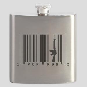 Pop Robs M16 Barcode Art Flask