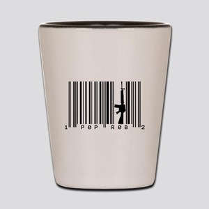 Pop Robs M16 Barcode Art Shot Glass