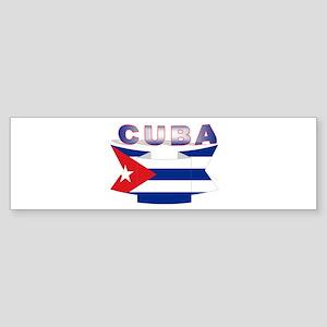 Cuba flag ribbon Bumper Sticker