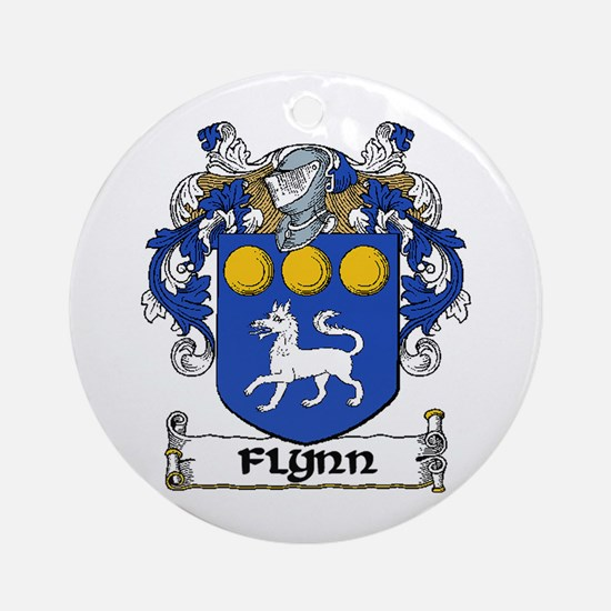Flynn Coat of Arms Ornament (Round)