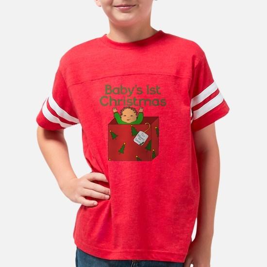 1st Christmas Present Baby Me Youth Football Shirt
