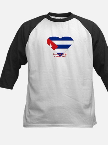 Cuban flag fan Kids Baseball Jersey