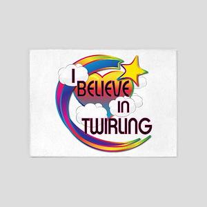 I Believe In Twirling Cute Believer Design 5'x7'Ar