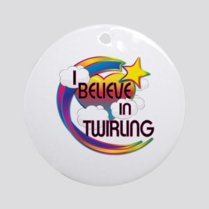 I Believe In Twirling Cute Believer Design Ornamen