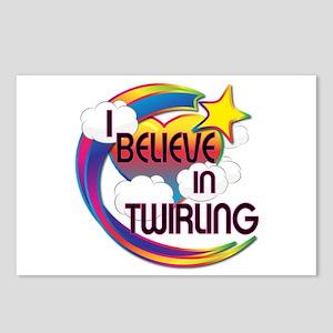 I Believe In Twirling Cute Believer Design Postcar