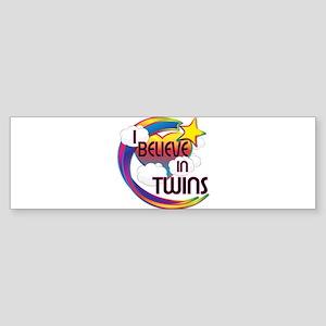 I Believe In Twins Cute Believer Design Sticker (B