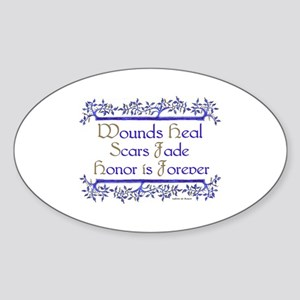Honor is forever Oval Sticker