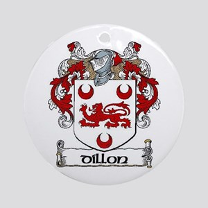 Dillon Coat of Arms Ornament (Round)