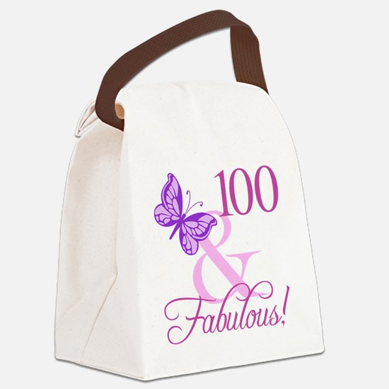 Unique 100th birthday Canvas Lunch Bag