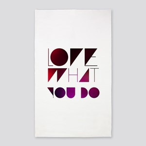Love what you do 3'x5' Area Rug