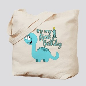 Dinosaur First Birthday Tote Bag