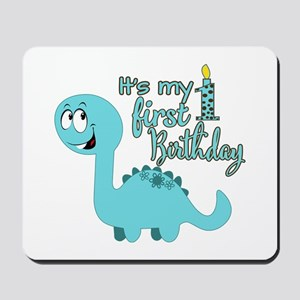 Dinosaur First Birthday Mousepad