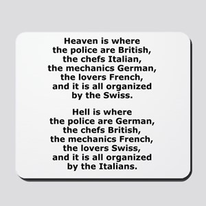 Heaven and Hell Mousepad