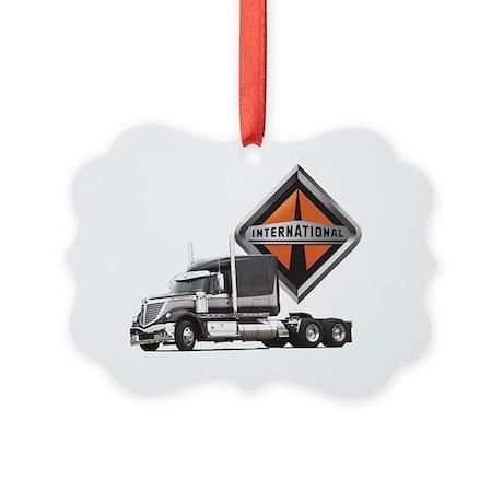 International Lone Star Semi Truc Picture Ornament