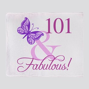 Fabulous 101st Birthday For Women Throw Blanket
