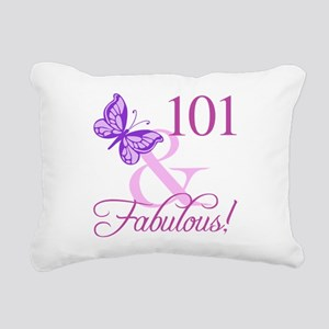 Fabulous 101st Birthday Rectangular Canvas Pillow