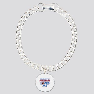 Somebody in Swaziland Loves me Charm Bracelet, One
